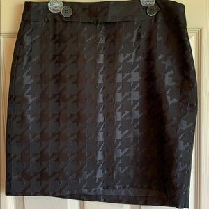 NWT Ann Taylor LOFT lined Black Skirt 4